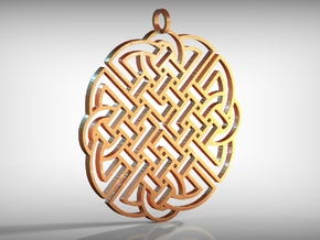 Celtic Pendant in Polished Gold Steel