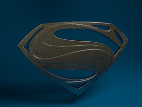 Man Of Steel - Emblem in Stainless Steel