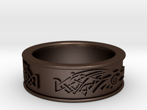 Skyrim ring Dragonborn  in Matte Bronze Steel