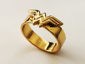 Wonder Woman ring - Bottle Opener band or regular in Stainless Steel