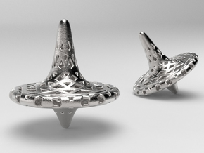Octa-Fractal Spinning Top in Polished Nickel Steel