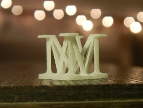 Two way letter / initial M&M in White Strong & Flexible