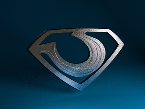 "Zod ""Man of Steel"" Emblem in Polished Metallic Plastic"