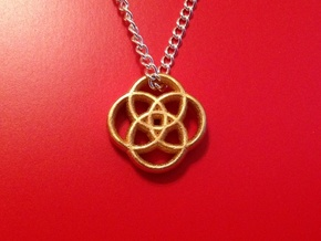 Four Circles in Matte Gold Steel