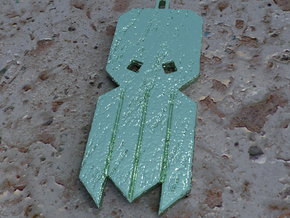 Cthulhu Tribal Amulet in Metallic Plastic