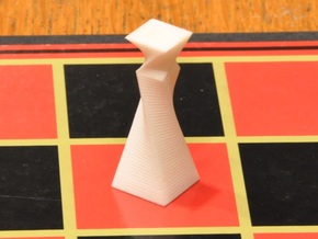 90 Degree Twist Chess Set in White Strong & Flexible