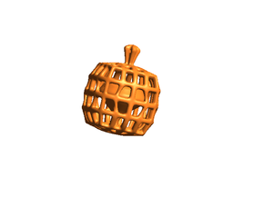 Halloween Heart in a Pumpkin Cage Pendant in White Strong & Flexible