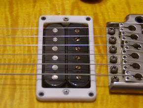 Modern Pickup Mounting Ring for PRS - pair in White Strong & Flexible Polished