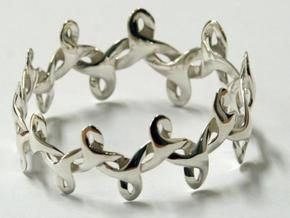 Bracelet IV Medium in White Strong & Flexible Polished
