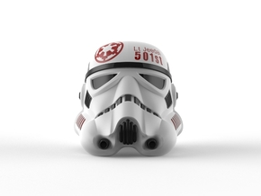 Lt. Jeedai 501st Stormtrooper Helmet  in Full Color Sandstone