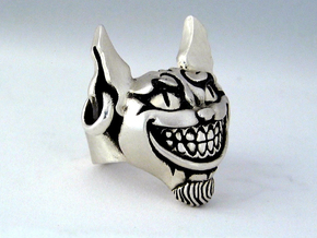 Evil Cheshire Cat - Alice in Wonderland in Raw Silver