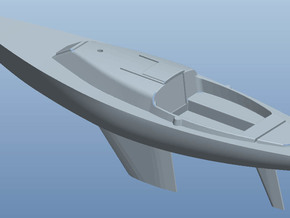 H-boat H0 in White Strong & Flexible Polished