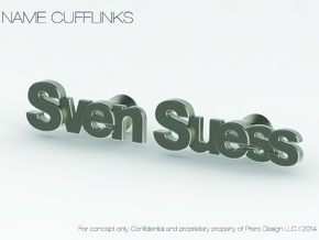 "Custom Name Cufflinks - ""Sven Suess"" in Stainless Steel"