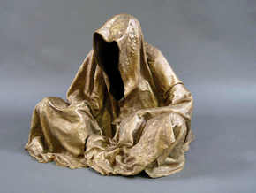 guardians of time keepers ghost statue cloak coat  in Raw Bronze