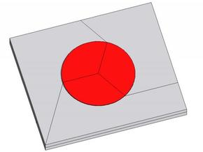 Hinomaru (Japan's flag) in White Strong & Flexible