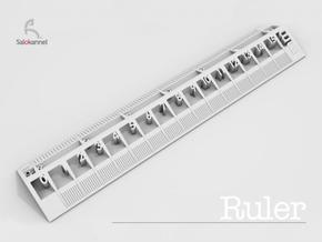 Too cool for school -Ruler 15cm/6inch in White Strong & Flexible