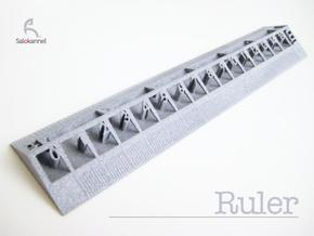 Too cool for school -Ruler 15cm/6inch in Metallic Plastic