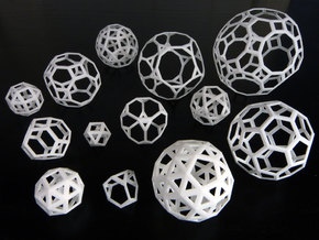 Archimedean solids in White Strong & Flexible