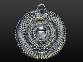 Hypnotizing Pendant of Illusion in Polished Silver