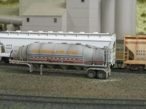 HO 1/87 Dry Bulk Trailer 10b - Heil 1625V Superflo in White Strong & Flexible