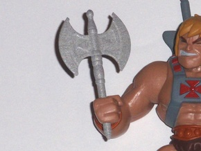 Battle Axe for the New Mini figures in Polished Metallic Plastic