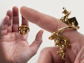 Cosmographic Overdose - Finger Ornament - 20mm in 18K Gold Plated