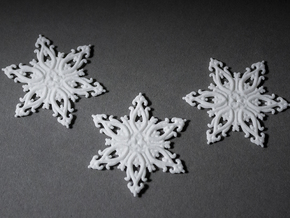 Floralflake Set in White Strong & Flexible