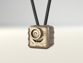"Minion ""3D App Icon Stylized"" in Polished Brass"
