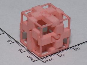 Cross D6 Die with frame in White Strong & Flexible
