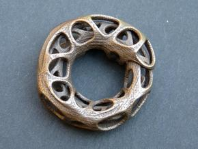 Ouroboros Pendant (M) in Polished Bronze Steel