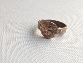 Pacman Ring in Stainless Steel