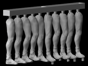 1/25 scale Roman Legionary legs (5 sets) in Frosted Ultra Detail