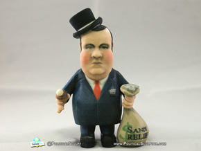 Top Hat Re-election Slush Fund Chris Christie in Full Color Sandstone