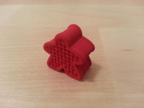 Woven Meeple in Red Strong & Flexible Polished