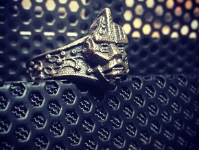 Neuromancer Avatar Ring (US Size 9) in Polished Grey Steel