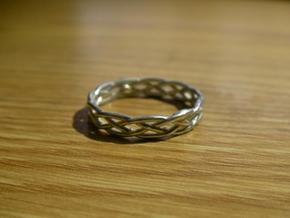 Celtic Knot Ring in Raw Silver