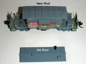 N Bluford Shops Transfer Caboose Roof x2 in Frosted Ultra Detail