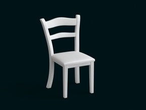 1:10 Scale Model - Chair 01 in White Strong & Flexible