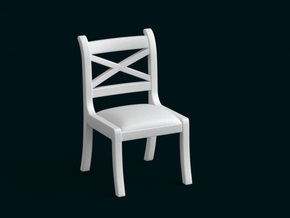 1:10 Scale Model - Chair 02 in White Strong & Flexible