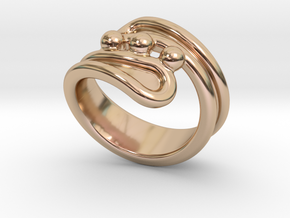 Threebubblesring 32 - Italian Size 32 in 14k Rose Gold Plated