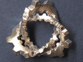 Knotted Cog (small) in Polished Silver