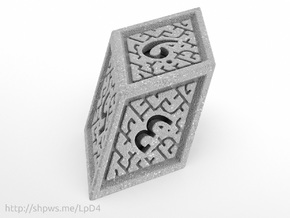 Hedron D6 (Solid), balanced gaming die in Polished Metallic Plastic