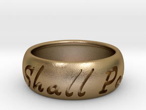 This Too Shall Pass ring size 12 1/2  in Polished Gold Steel