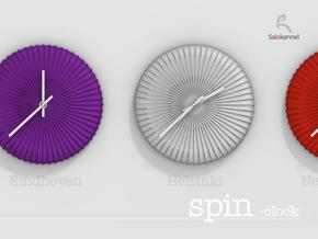 SPIN-wall clock in White Strong & Flexible