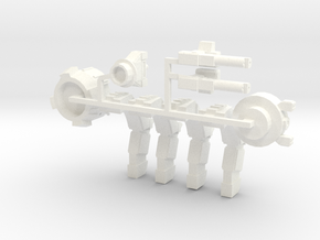 Warbot Command Walker in White Strong & Flexible Polished