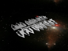 6 Space Battlefleet Torpedo Markers in White Strong & Flexible