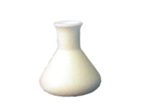 Erlenmeyer Flask in White Strong & Flexible Polished