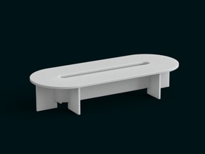 1-10 Scale Model - Table 05 in White Strong & Flexible