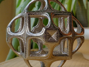 Fractal Cube GD8 in Polished Nickel Steel
