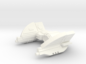 Warbot Drone Fighter in White Strong & Flexible Polished